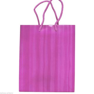 "17"" Birthday Messy Stripes Party Purple Extra Large Paper Gift Bag"