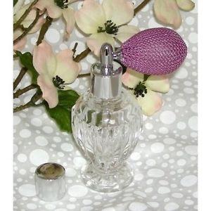 Vintage Style Perfume Spray Empty Glass Bottle Atomizer Lavender Bulb Refillable