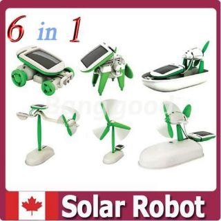 6 in 1 Educational Solar Power Assemble Boat Fan Car Robot