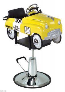 """Pibbs 1806 Kids Barber or Salon Hair Cutting Chair """" Taxi Cab """" Pedal Car"""