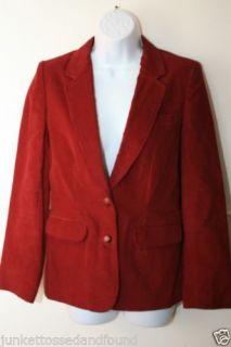 93da1ab7c1e ... F30 Vtg 80 s Retro Women s Burgundy Red Corduroy Jacket Blazer ...
