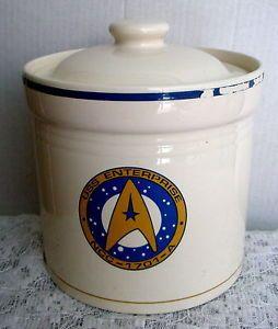 Vtg 1993 Star Trek USS Enterprise NCC 1701A Cookie Jar Pfaltzgraff