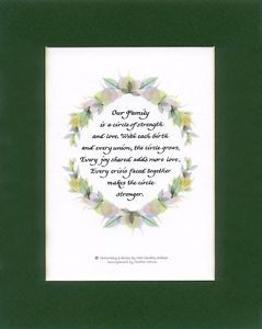 Family Circle Calligraphy Gift Verse Poem Quote Quotation Saying 61 by Artist