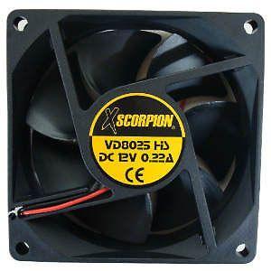 "Xscorpion 3"" Amplifier Cooling Fan Car Audio Heat Control Universal Mount 12V"