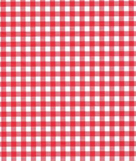 Red Gingham on White Tissue Paper 10 Large Sheets