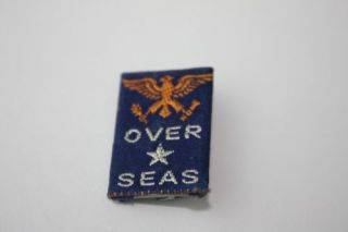 Vintage WWII Sweetheart Pin OVER SEAS Support Troops USA Home Front