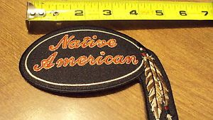 Native American Feathers Biker Patch