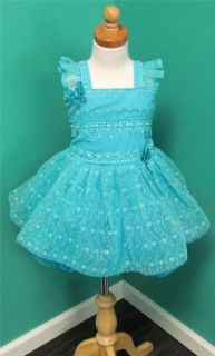Beautiful Little Girl's Pageant Dress Baby Blue Semi Glitz