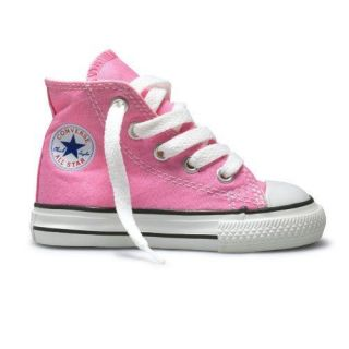 Girls Pink High Top Converse Infant Size 6