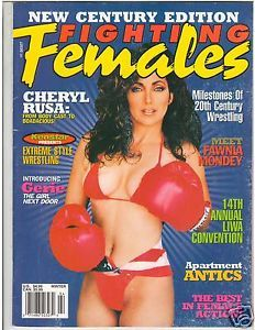 Fighting Females Wrestling Magazine Diva's Cheryl Rusa Fawnia Mondey