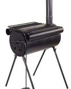 Portable Tent Camping Steel Wood Stove Hunting Fishing