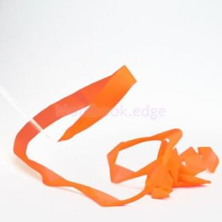 Orange Gym Rhythmic Gymnastic Ballet Dance Ribbon Streamer Party Musical Theatre