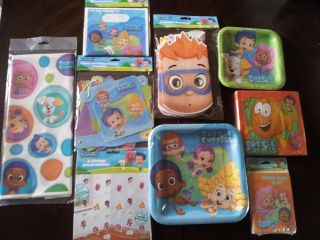 Bubble Guppies Birthday Party Nickelodeon Plates Banner Tablecloth You Choose