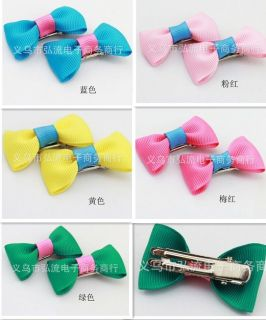 8pcs Lovely Cute Baby Girls Lady Bows Barrette Hair Clips Decoration Accessories