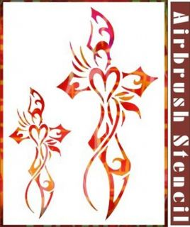 Cross Primitive Stencil Airbrush Stencil Home Painting DIY Party Decor 003026Y 9