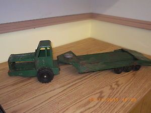 Antique Wyandotte Toy Flatbed Toy Truck with Winch