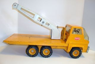 Vintage Tonka 70's Flatbed Boom Crane Truck