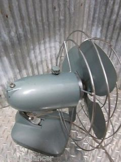 Machine Age Vtg Metal General Electric Oscilating Fan 1950s Mid Century Modern