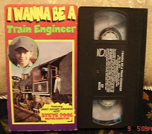 I Wanna Be A Train Engineer VHS Steve Pool Steam Engines Trains Educational Tape