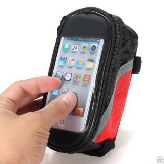 Waterproof Bicycle Bike Frame Tube Bag Touch Screen Phone Case for iPhone 4 4S 5
