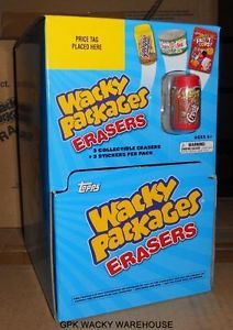 Topps 2011 Wacky Packages Series 2 Erasers Gravity Feed Box 24 Pks