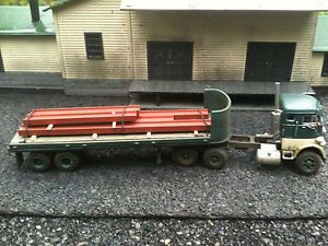 HO 1 87 Custom Mack H63 COE Flat Bed Trailer Alloy Forms Athearn CMW