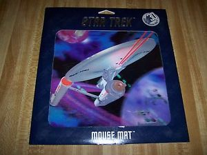 Star Trek TOS Enterprise NCC 1701 3D Mouse Mat Mouse Pad from 1997 SEALED New