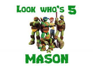 Ninja Turtles Birthday T Shirt Design Decal Transfer Personalized Name Age