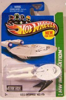 Hot Wheels Star Trek Imagination USS Enterprise NCC 1701 1 7000 Scale Mintinpkg