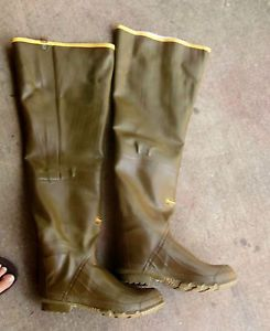 Mens Lacrosse Outdoors Man Fishing Hunting Thigh Hip Waders Rubber Boots Tall EC