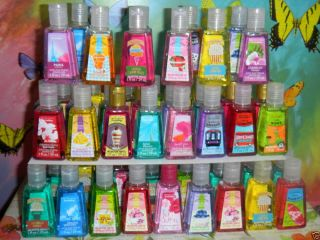 Lot 40 Bath Body Works PocketBac New Scents Anti Bacterial Sanitizer Hand Gel