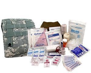 Military First Aid Kit 'Individual' with MOLLE Straps