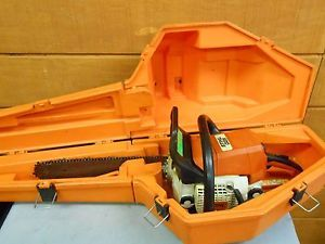 "Stihl Chainsaw Model 025 w 16"" Bar Chain with Hardsided Carry Case Low Start"