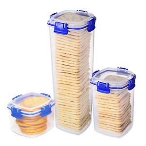 Sistema Klip It Cracker Food Storage Containers One Each SML Med LRG Container
