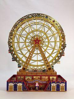 Mr Christmas Gold Label World's Fair Animated Musical Grand Ferris Wheel