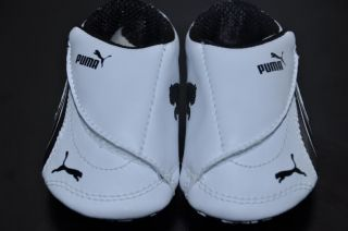 Puma Baby Infant Boy Girl Drift Cat 3 Black White Crib Shoes Size 1 New