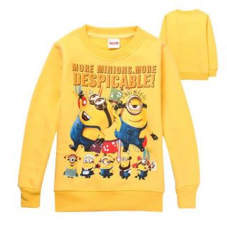 Minions Despicable Me Kids Boys Girls Long Sleeve Fleece T Shirts 110 4 5 Years