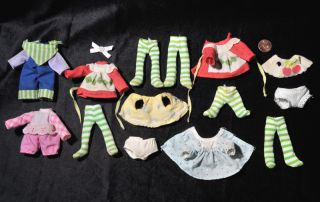 Vintage Strawberry Shortcake Clothes Lot Berry Baby Doll