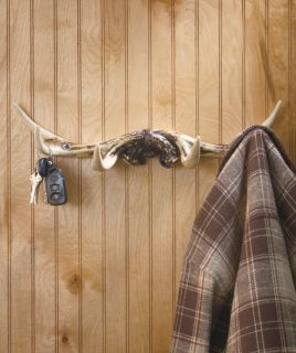 Deer Antler Coat Hat Rack Rustic Cabin Lodge Den Country Hardware Keys Umbrella