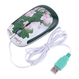 Lotus Flower Wired 3D USB Optical Mouse for PC Laptop