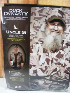 Uncle SI Beard Glasses Cap Vest Costume Duck Dynasty