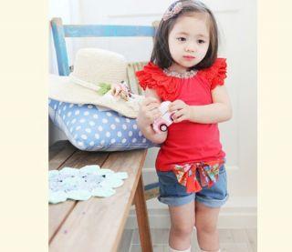 Baby Kids Girls T Shirt Top Shorts Pants Babys Clothing Short Trousers