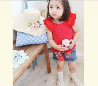 Baby Kids Girls T Shirt Top Shorts Pants Babys Clothing Short Trousers Outfit