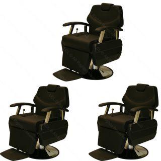 3 x Classic Professional Hydraulic Reclining Barber Chair Beauty Salon Equipment