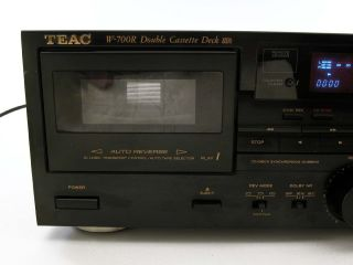 Teac w 700R Stereo Dual Cassette Deck Tape Player Recorder w Auto Reverse