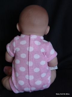 New in Box Berenguer 15 inch Happy Real Girl Pink Polka Dots 18512 Made in Spain
