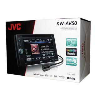 "JVC KW AV50 DVD CD USB DIVX Player Car Video Receiver 6 1"" TV Monitor Screen New"