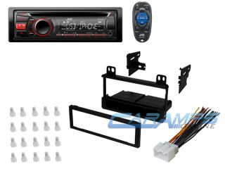 ★ New JVC CD Player Car Stereo Receiver w Dash Install Kit Wiring Harness ★