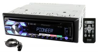 Pioneer DEH 4500BT 3YR Waranty Car Stereo Radio  Pandora Player w Bluetooth