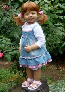 """Masterpiece Friday's Child Monika Levenig Doll 29"""" Strawberry Blonde"""